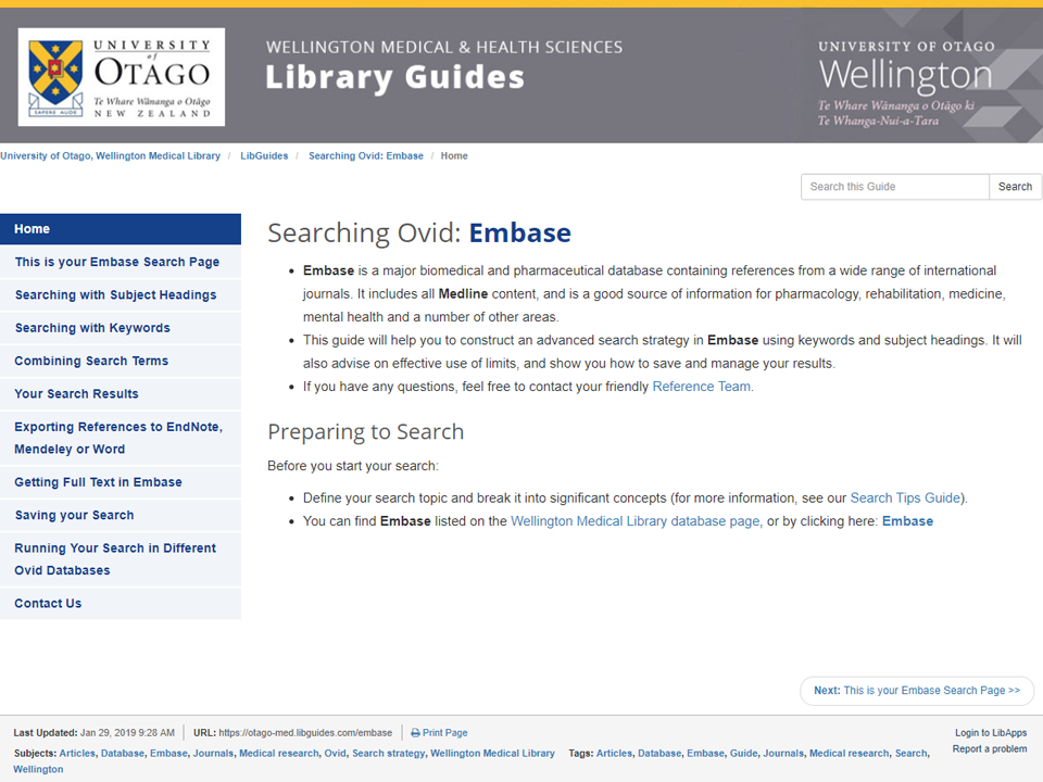 All Guides Alphabetically - LibGuides at University of Otago
