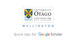 Google Scholar - Quick Tips