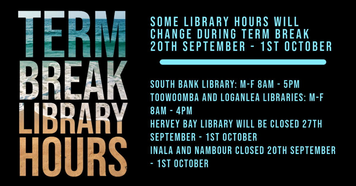 Some library hours will change during term break