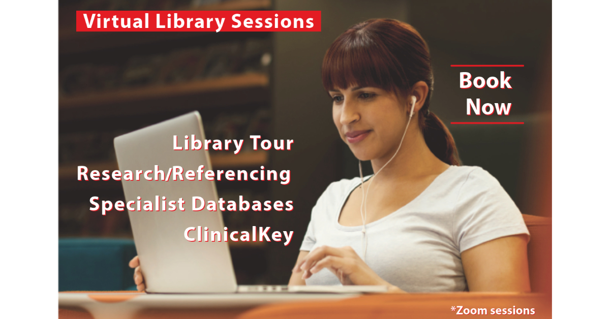 Click to book into library information sessions