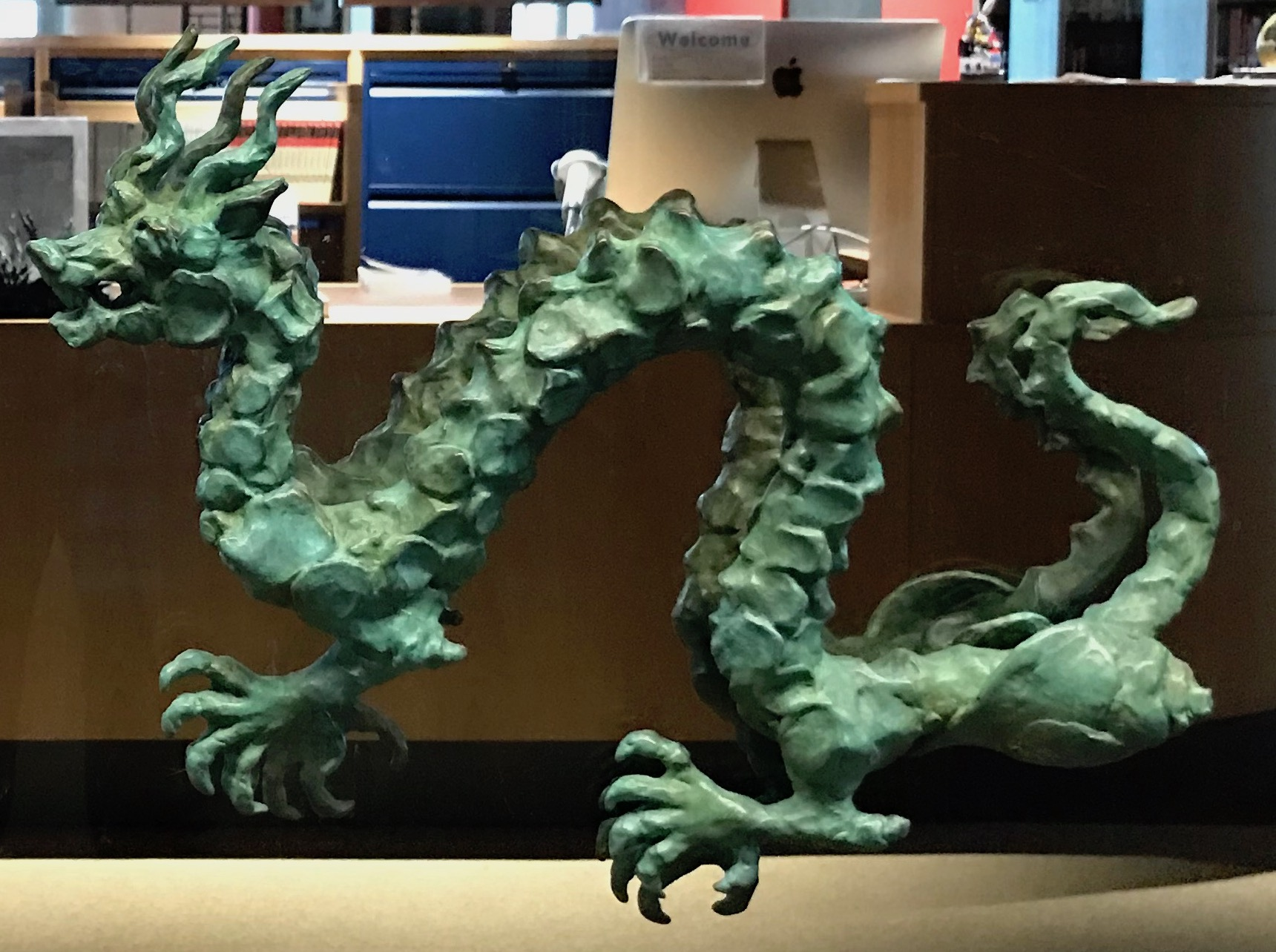 Chinese Dragon on High School Library Door