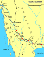 Map of the Burma Railway
