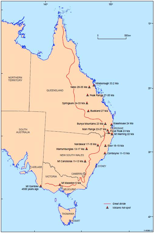 Australian volcanoes