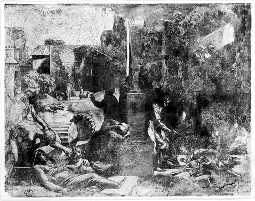 Plague scene by or after a drawing by Raphael