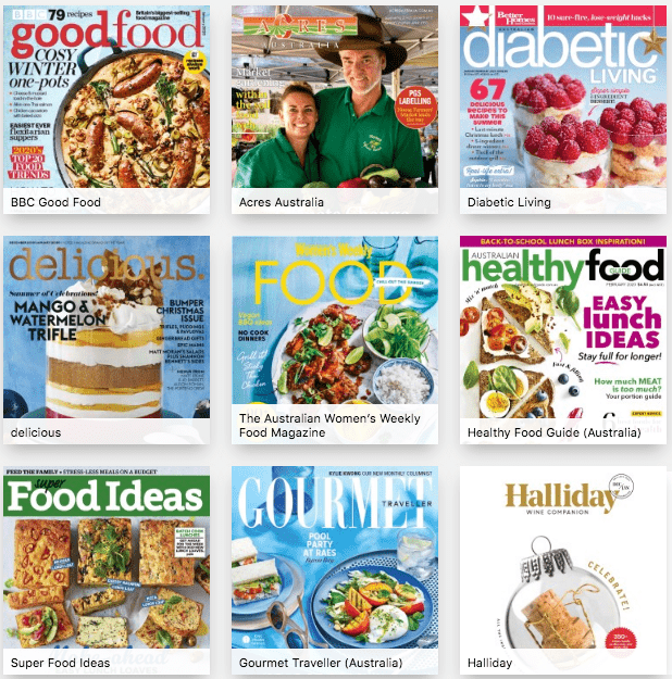 Kerferd Library PressReader food and drink magazines