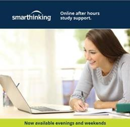 Smarthinking Online after hours study support. Now available evenings and weekends