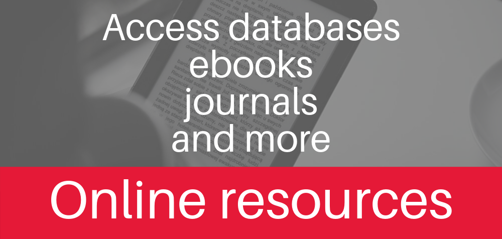 Access academic databases, ebooks, journals, and more with online resources