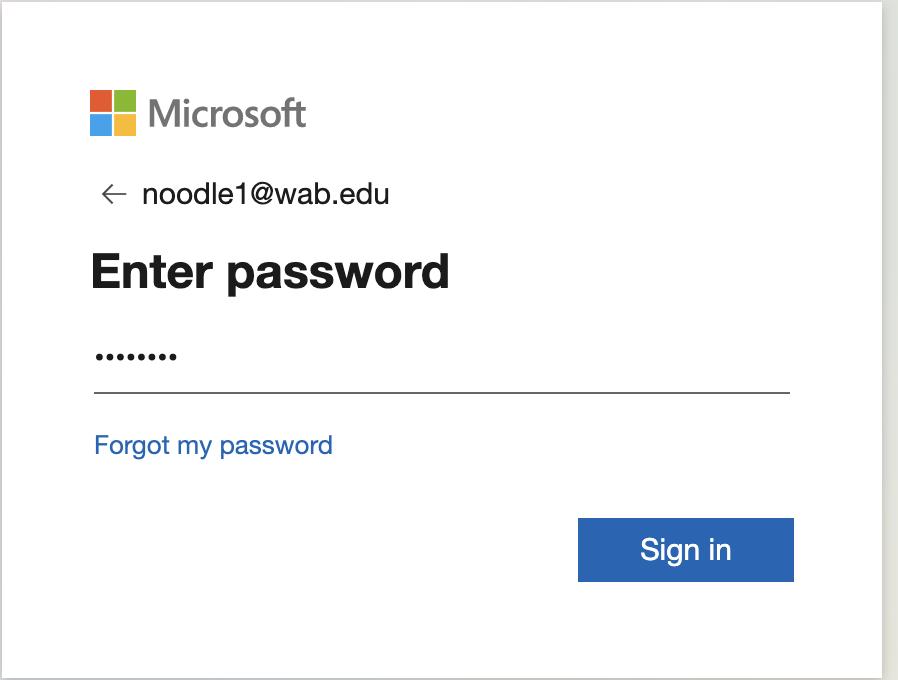 noodletools password