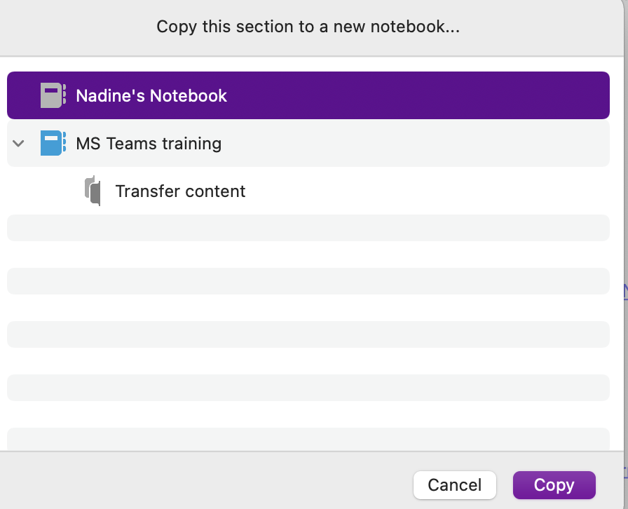 Select Notebook