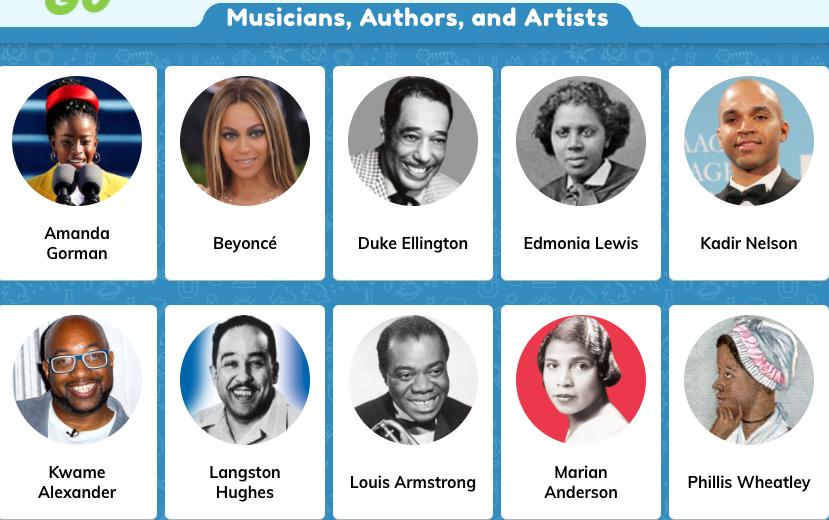 Musicians, Authors & Artists