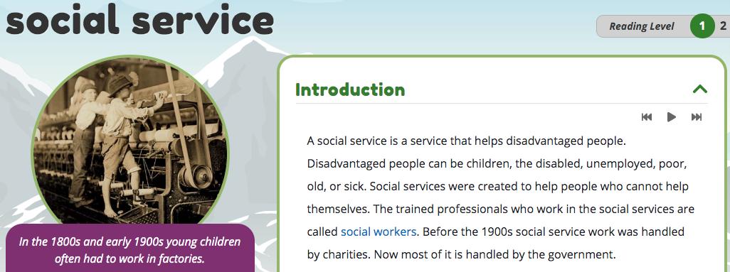 Social services