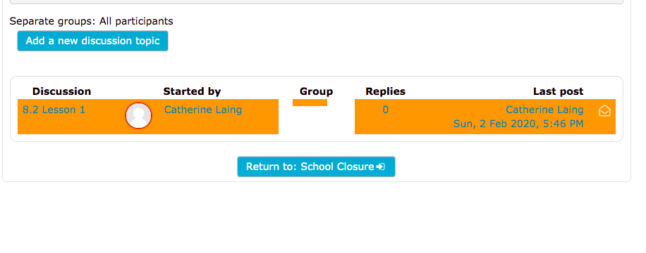 No group in Moodle