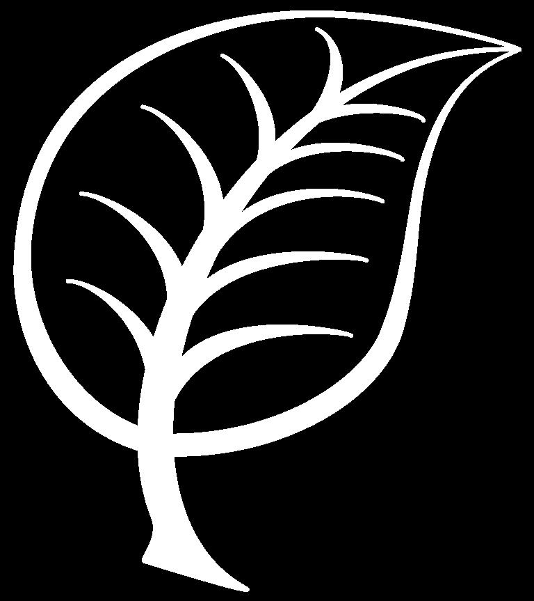 leaf logo in white